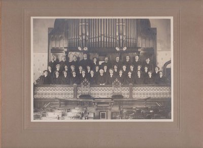 Portrait Photograph of Colborne United Church Choir, Cramahe Township