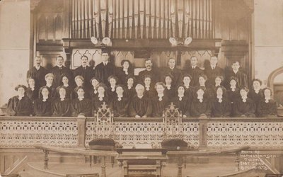 Postcard of Colborne United Church Choir, Cramahe Township