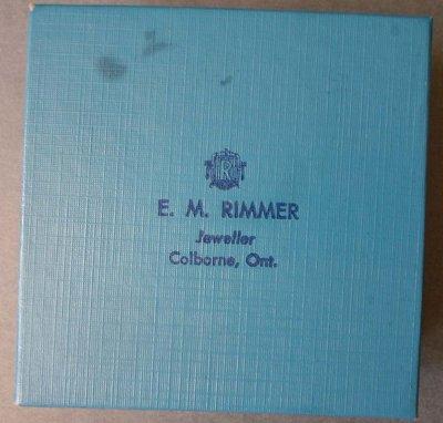 E.M. Rimmer jewellery box
