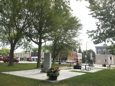 Exhibit, Colborne cenotaphs, southward