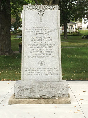 Exhibit, Colborne WWII cenotaph