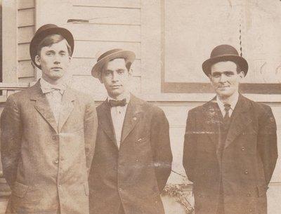 Postcard of three men