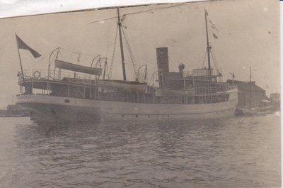 Postcard of a steamer