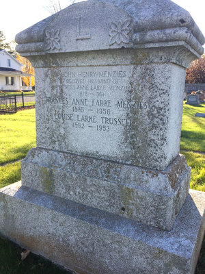Larke headstone, Lakeport Cemetery