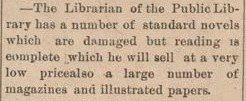 First known reference to Colborne Public Library, The Enterprise, 16 April 1903