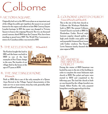 Colborne Walking Tour Brochure, 2005