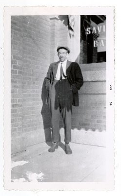Photograph of Harold Morrow, 1910s, Colborne Women's Institute Scrapbook