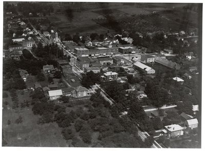 Aerial photograph of Colborne looking northwards at Division Street, 1920