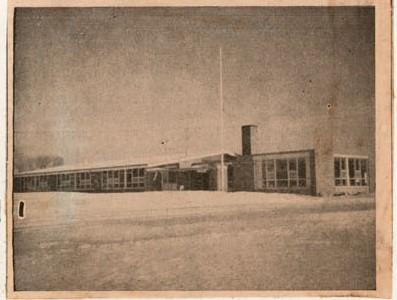Newspaper clipping photo of Public School, Castleton, Colborne Women's Institute Scrapbook