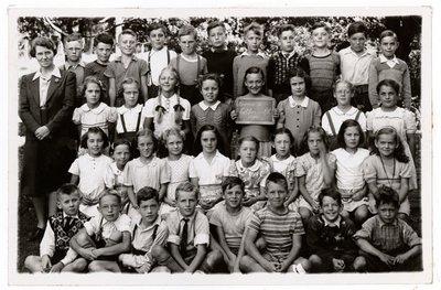 Class photograph of Colborne Public School Room 2, 1946, Colborne, Colborne Women's Institute Scrapbook