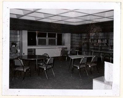 Photograph of Colborne Public School library, Colborne Women's Institute Scrapbook
