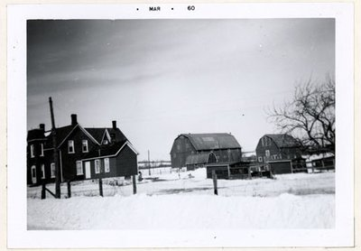 Photograph of Cox farm, Colborne Women's Institute Scrapbook