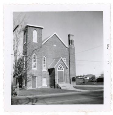 Photograph of Colborne Baptist Church, Colborne, Colborne Women's Institute Scrapbook