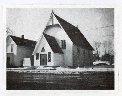 Photograph of Methodist Episcopal and United Missionary Church, Colborne, Colborne Women's Institute Scrapbook