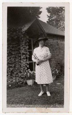 Photograph of Mrs. Henrietta (Hattie) McLaughlin, Colborne Women's Institute Scrapbook