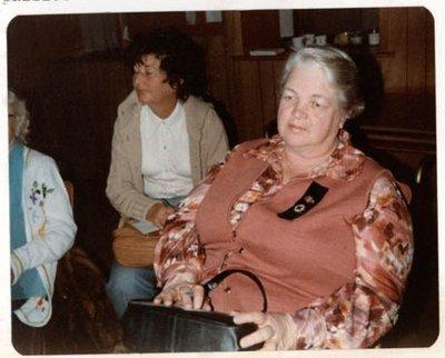 Photograph of Mrs. Gladys Briggs and Betty Allen, Colborne Women's Institute Scrapbook