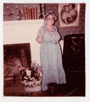 Photograph of Goldie Cox, Colborne Women's Institute Scrapbook