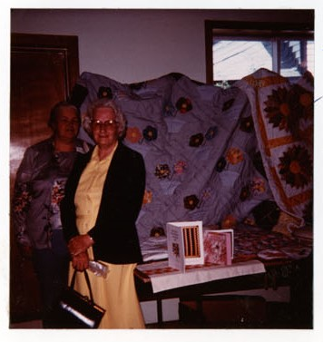 Photograph of Gladys Briggs and Cathy Mayne, Colborne Women's Institute Scrapbook