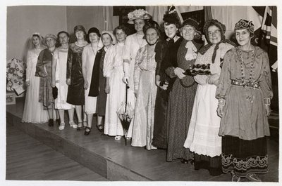 Photograph of 25th Anniversary Pageant, 1952, Colborne Women's Institute Scrapbook
