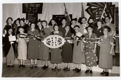 Photograph of 25th Anniversary, 1952, Colborne Women's Institute Scrapbook