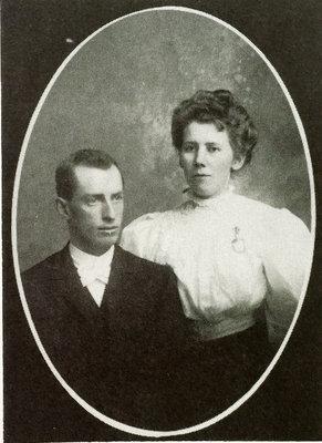 Studio portrait of John Bruce McKague (1880-1972) and wife Lena Maud McGregor McKague (1879-1967), Colborne