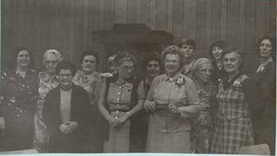 Photographs of Castleton Women's Institute members, 75th Anniversary, 1980, Castleton W.I. Scrapbook