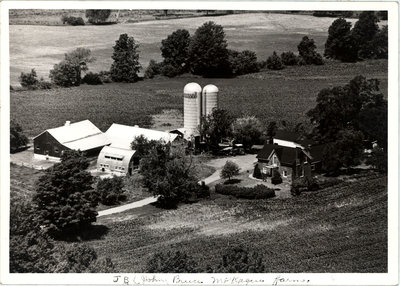 Photograph and family history of McKague farm, Castleton Women's Institute scrapbook