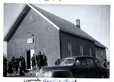 Photographs of Cramahe Baptist Church, Castleton Women's Institute scrapbook