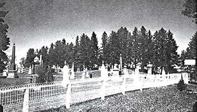 Photograph of Castleton Cemetery, Castleton Women's Institute scrapbook