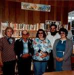 Photograph of Cramahe Township Public Library Board - Gwen Lawrensen, Marvin McComb, Shirley Palmer, Alvin Jones, and Jean Mounsteven