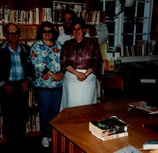 Photograph of Marvin McComb, Shirley Palmer, Alvin Jones, and Sue Laberge