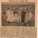 Winning Farm Forum Play newspaper clipping