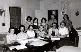 Photograph of Mrs. Smith, 4-H Homemaker Leader, Castleton and Morganston