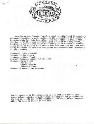 Cramahe Bicentennial House Tour, 1992