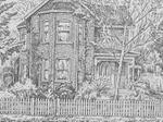Sketch of King Street East residence, Colborne