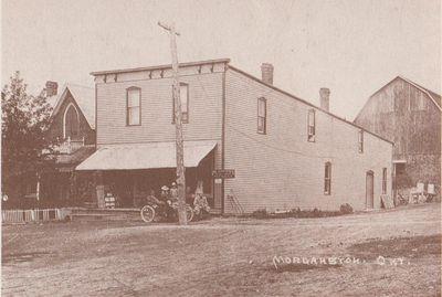 Postcard of Morganston general store, Cramahe Township, ca.1910-15