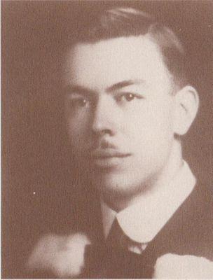 Graduation portrait of Dr. Frank Pember, Cramahe Township, 1928