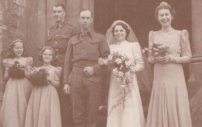 Wedding photograph of Lawrence Mutton and Beryl Tucker