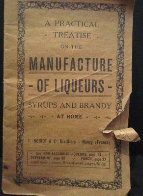 Manufacture of Liqueurs booklet, Griffis Drug Store, Colborne, Cramahe Township