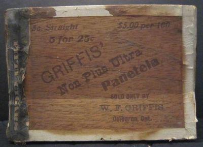 Griffis' cigar box, Griffis Drug Store, Colborne, Cramahe Township