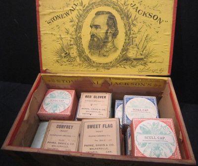 Stonewall Jackson cigar box, Griffis Drug Store, Colborne, Cramahe Township