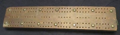 Cribbage board, Griffis Drug Store, Colborne, Cramahe Township