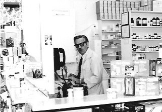 Photograph of Bert Downey, Downey Pharmacy Guardian, Colborne, Cramahe Township