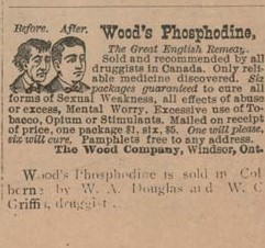 1902 advertising, Griffis Drug Store, Colborne, Cramahe Township