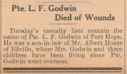 Exhibit, WWI Letters, Colborne Express, 3 May 1917, Godwin
