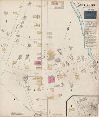 1904 Insurance Plan (Goad Map) of the Town of Castleton, Cramahe Township