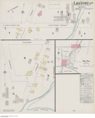 1904 Insurance Plan (Goad Map) of the Town of Lakeport, Cramahe Township