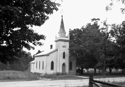Photograph of Salem United Church, Cramahe Township, 1925