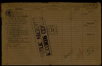 Thomas Phillip Ashcroft, Service Files, WWI, Cramahe Township