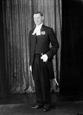 Photograph of Charles Rutherford, VC, Sergeant-at-Arms, Ontario Legislature, 1937